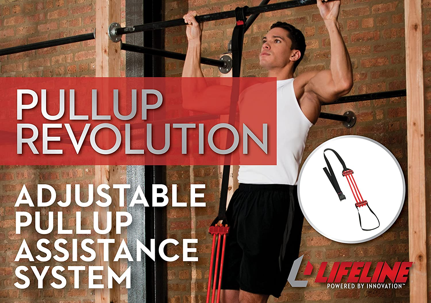 Shoulders and Chest Strength Lifeline Pull up Assist Band Improve Arm