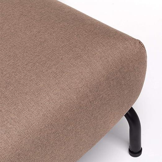sof/á butaca Individual con Pata de Madera y tapizado en Tela CAMBIA TUS MUEBLES Marr/ón Sof/á Cama Pegaso Plegable