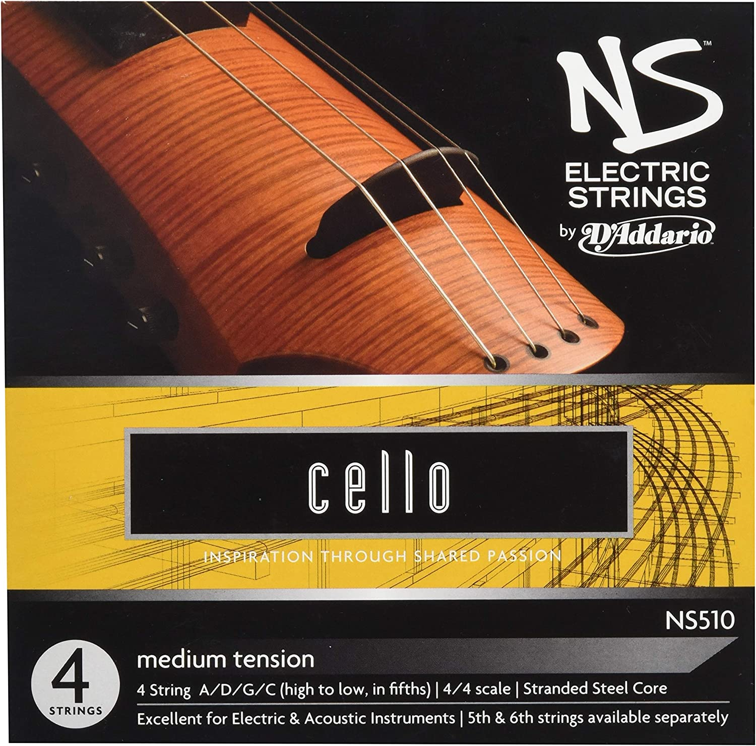 D'Addario Ns Electric Cello String Set, 4/4 Scale