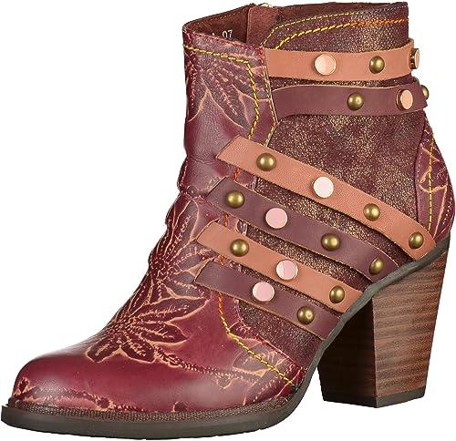 Laura VitaAngelina 07 - Botines Mujer, Color Morado, Talla 42: Amazon.es: Zapatos y complementos