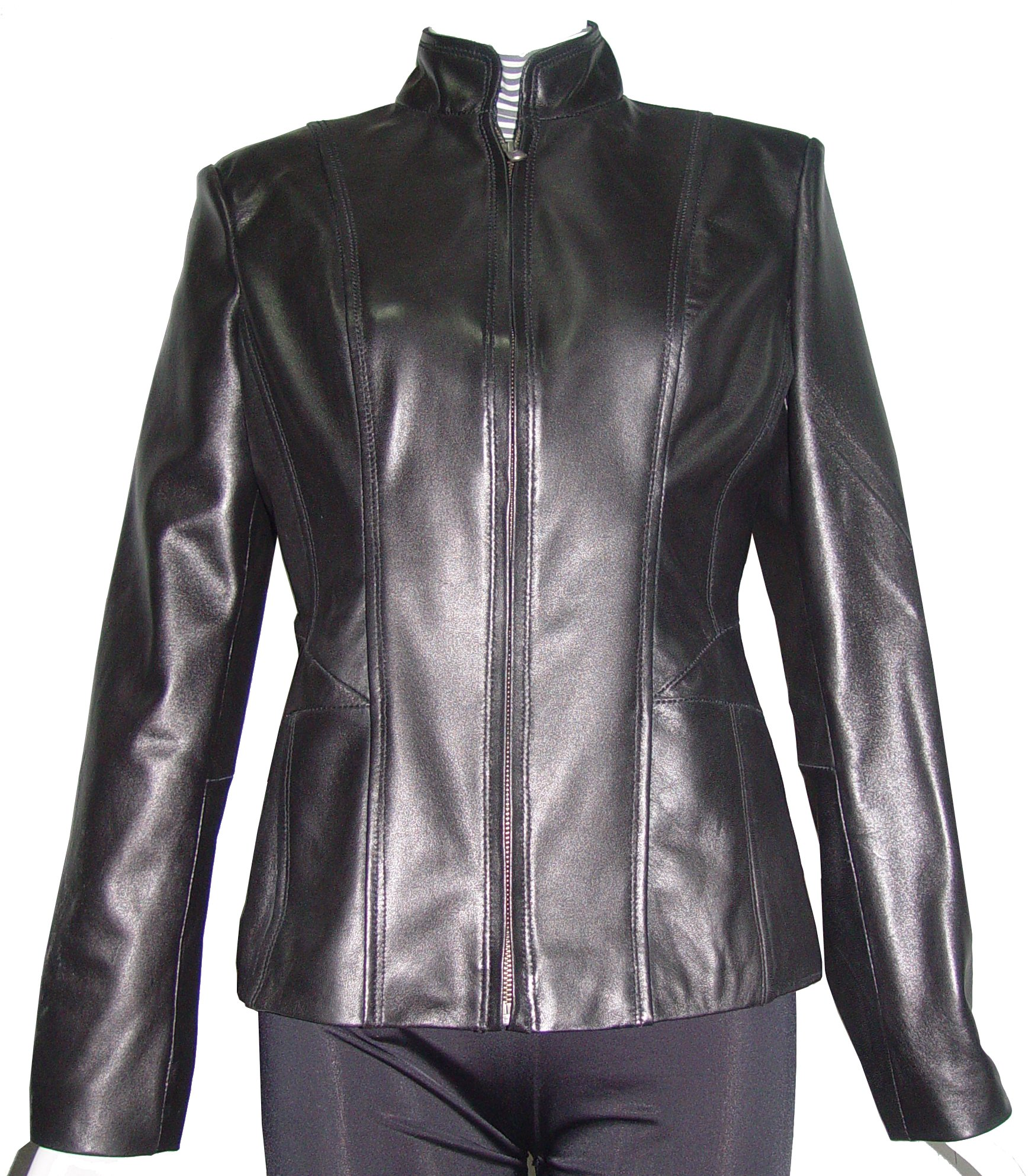 Nettailor 4187 Fitted Leather Biker Jackets Womens