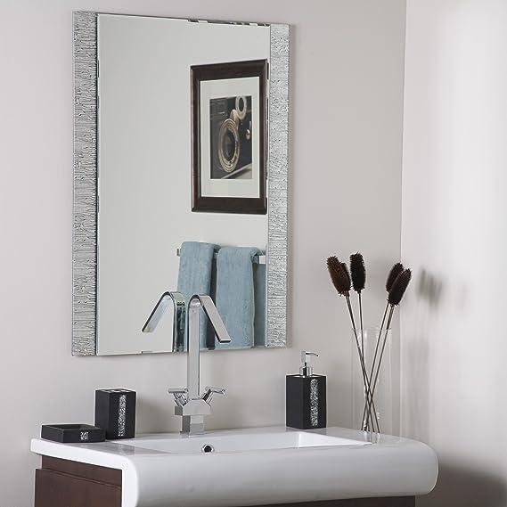 Decor Wonderland Frameless Molten Wall Mirror Home Kitchen