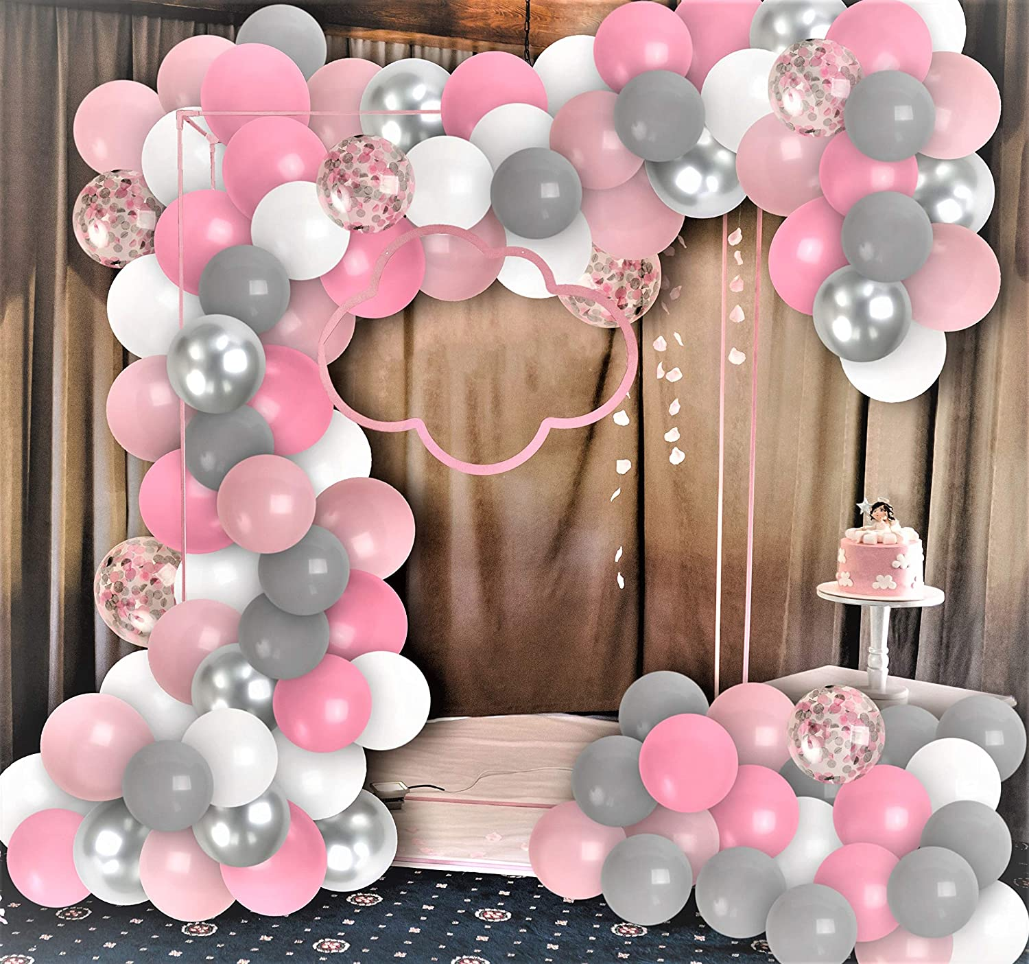 Pink Butterfly Baby Shower Decorations  from images-na.ssl-images-amazon.com