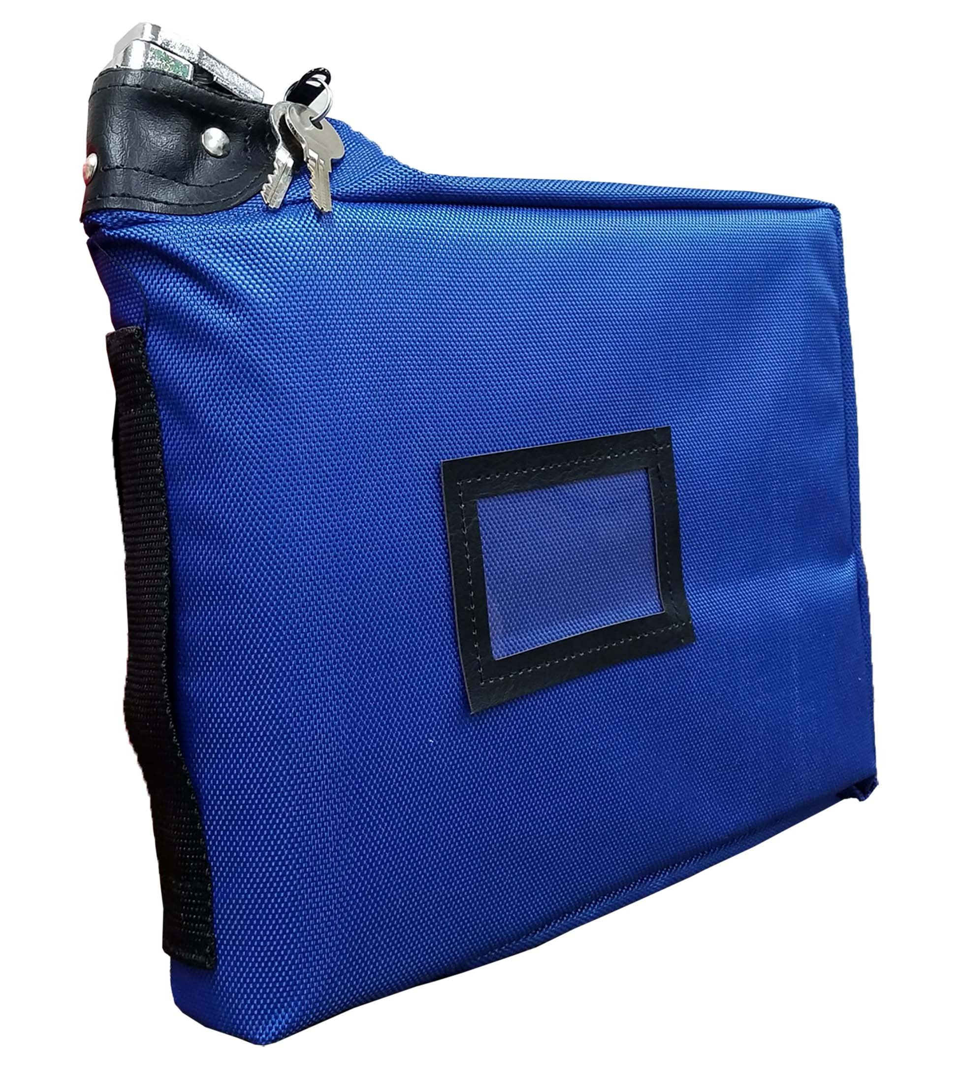 Prescription Medication Bag Standard Lock Travel Case (Blue)