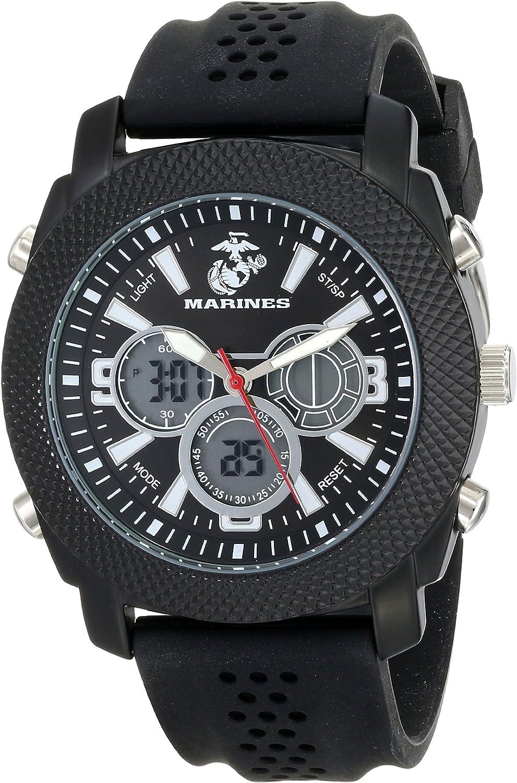 Wrist Armor Men s 37100003 C21 Analog-Digital Display Quartz Watch with Black Silicone Strap