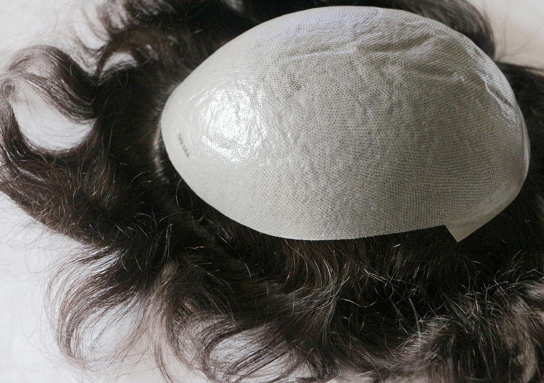Human Hair Toupee 7x9 Inches Thin depot Men Full Skin Pu online shop P