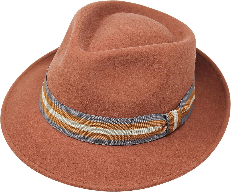 Cappello di Feltro Fedora Marrone Scuro 100/% Cappello di Lana