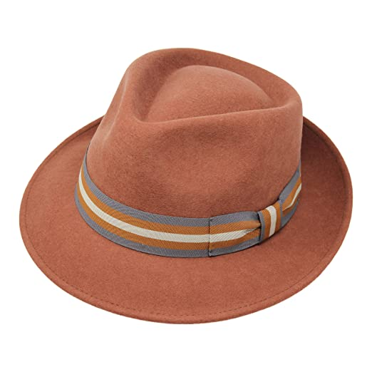 99100fc23 Premium Doyle - Teardrop Fedora Hat - 100% Wool Felt - Crushable for Travel  - Water Resistant - Unisex
