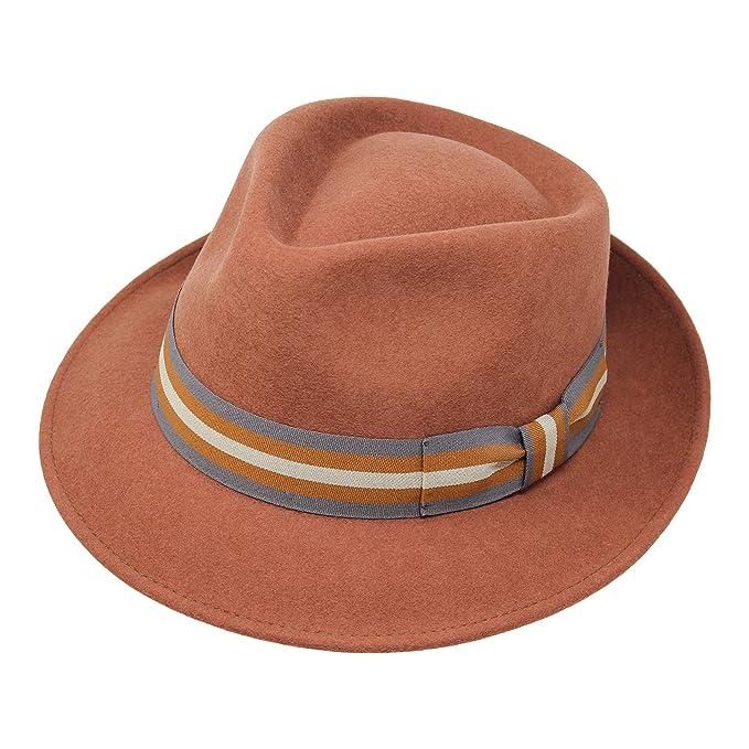 b700f07ae Borges & Scott B&S Premium Doyle- Cappello a Goccia Fedora-100% Feltro di