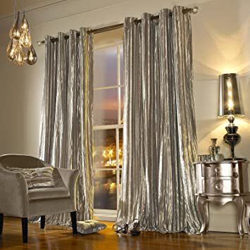 Kylie Minogue Iliana Eyelet Lined Curtains, 90 x 90 inches ...