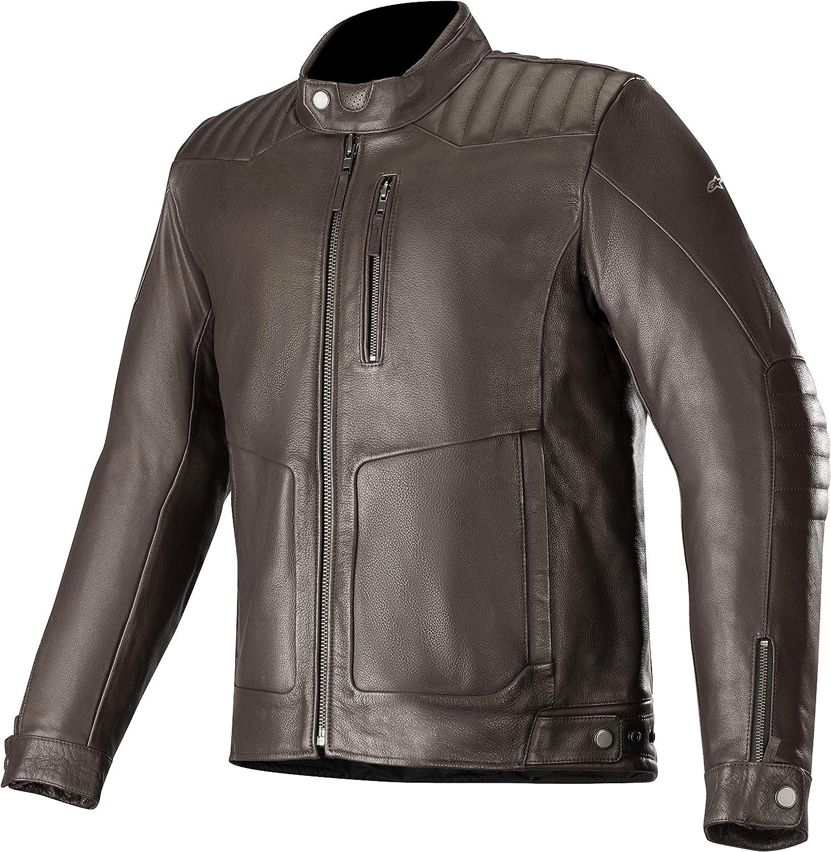 Motorcycle jackets Crazy Eight Leather Jackand Black Alpinestars