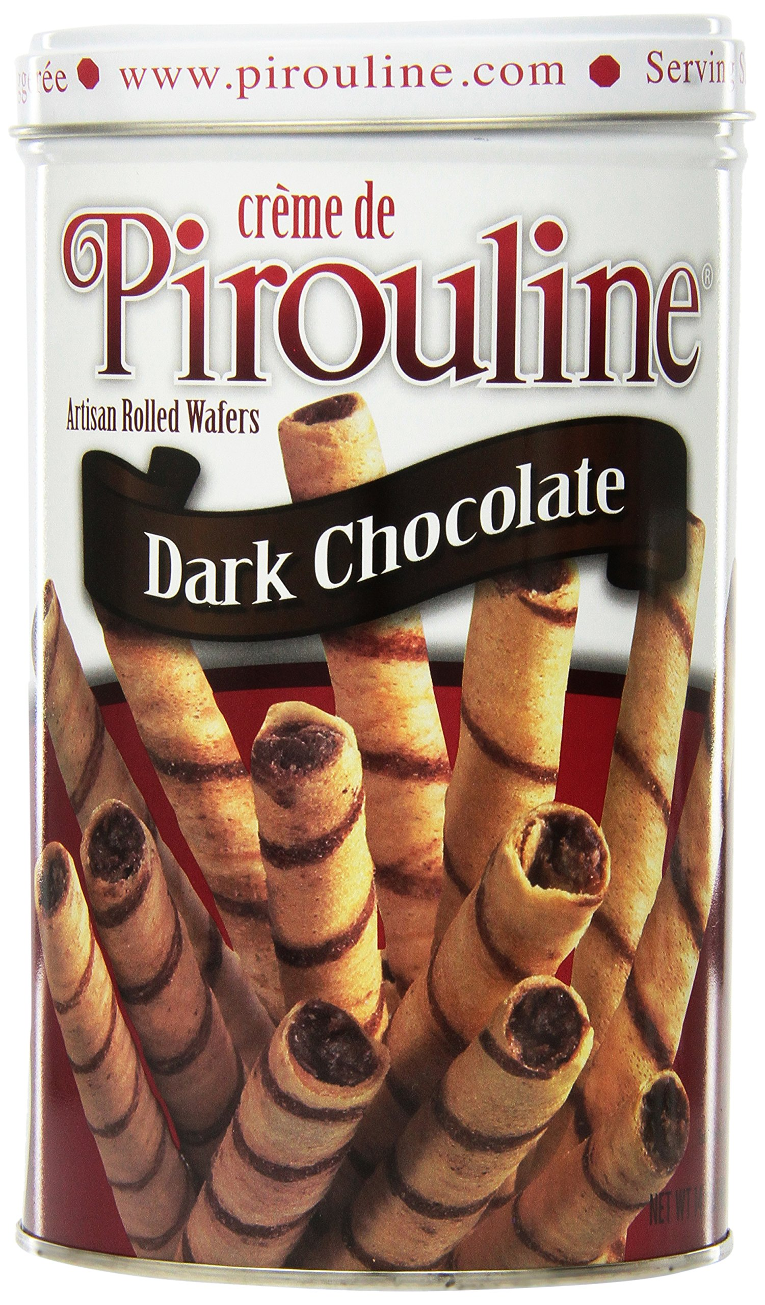 Pirouline Rolled Wafers, Dark Chocolate, 14-Ounce Tins (Pack of 6)