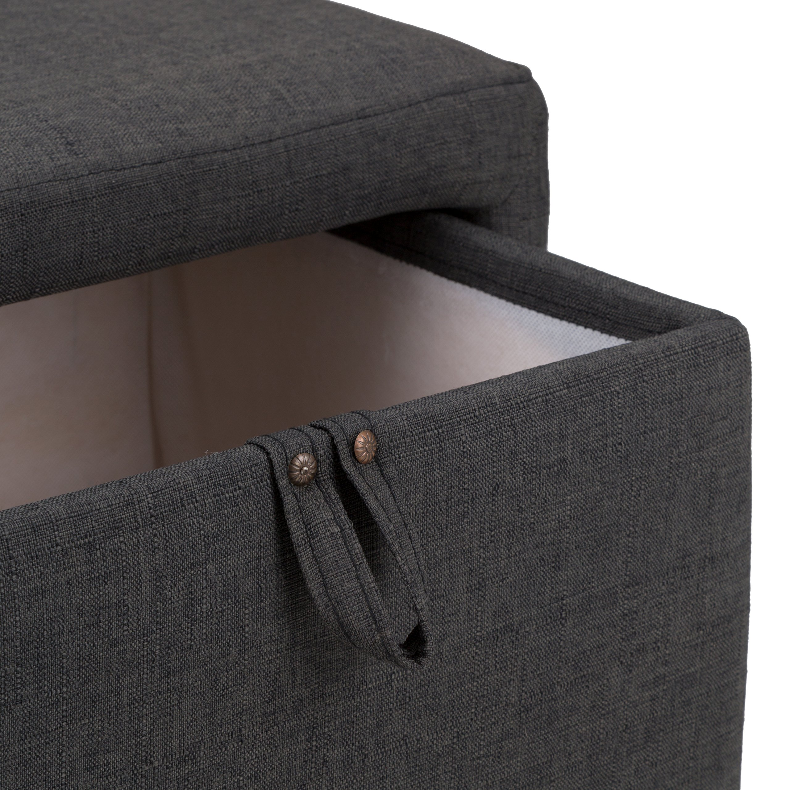 Fat Catalog Cube Storage Stool w/Drawer, Gray, ALT-OUG1001-SO by Fat Catalog (Image #8)