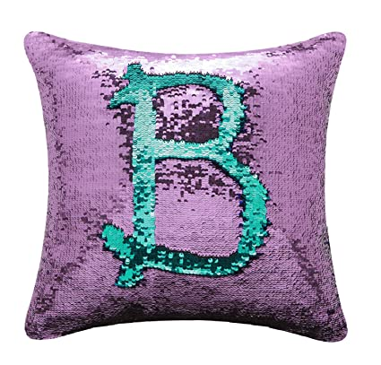 Amazoncom Boobei Two Colors Reversible Sequins Mermaid Pillow