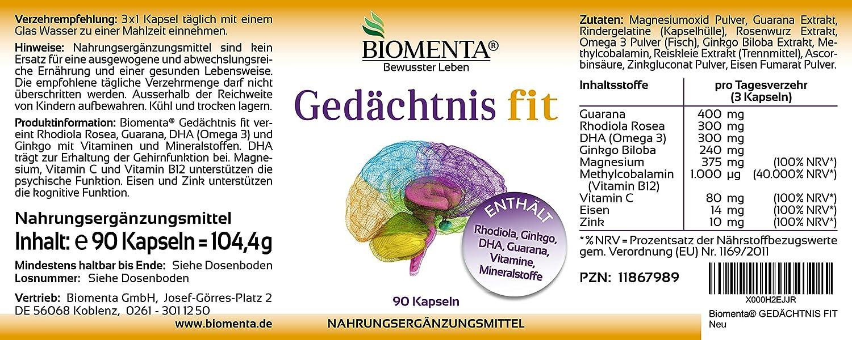 ... + GUARANA + DHA (Omega 3) + MAGNESIO + VITAMINA B12 (Metilcobalamina) + VITAMINA C + HIERRO + ZINC - 90 Cápsulas: Amazon.es: Salud y cuidado personal