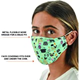 Slumbies! Cloth Face Coverings for Women & Men - Washable Face Coverings - Reusable Face Coverings - Flexible Nose Bridge - Adjustable Ear Bands - 5 Layer Filters Included - Dogs