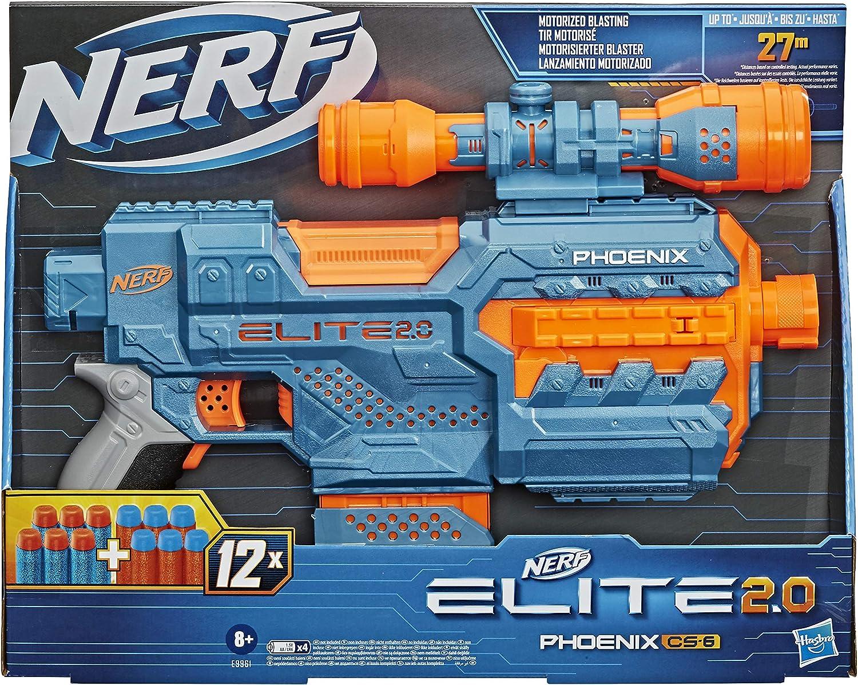 Nerf- Pistola motorizada Elite 2.0 Phoenix CS-6