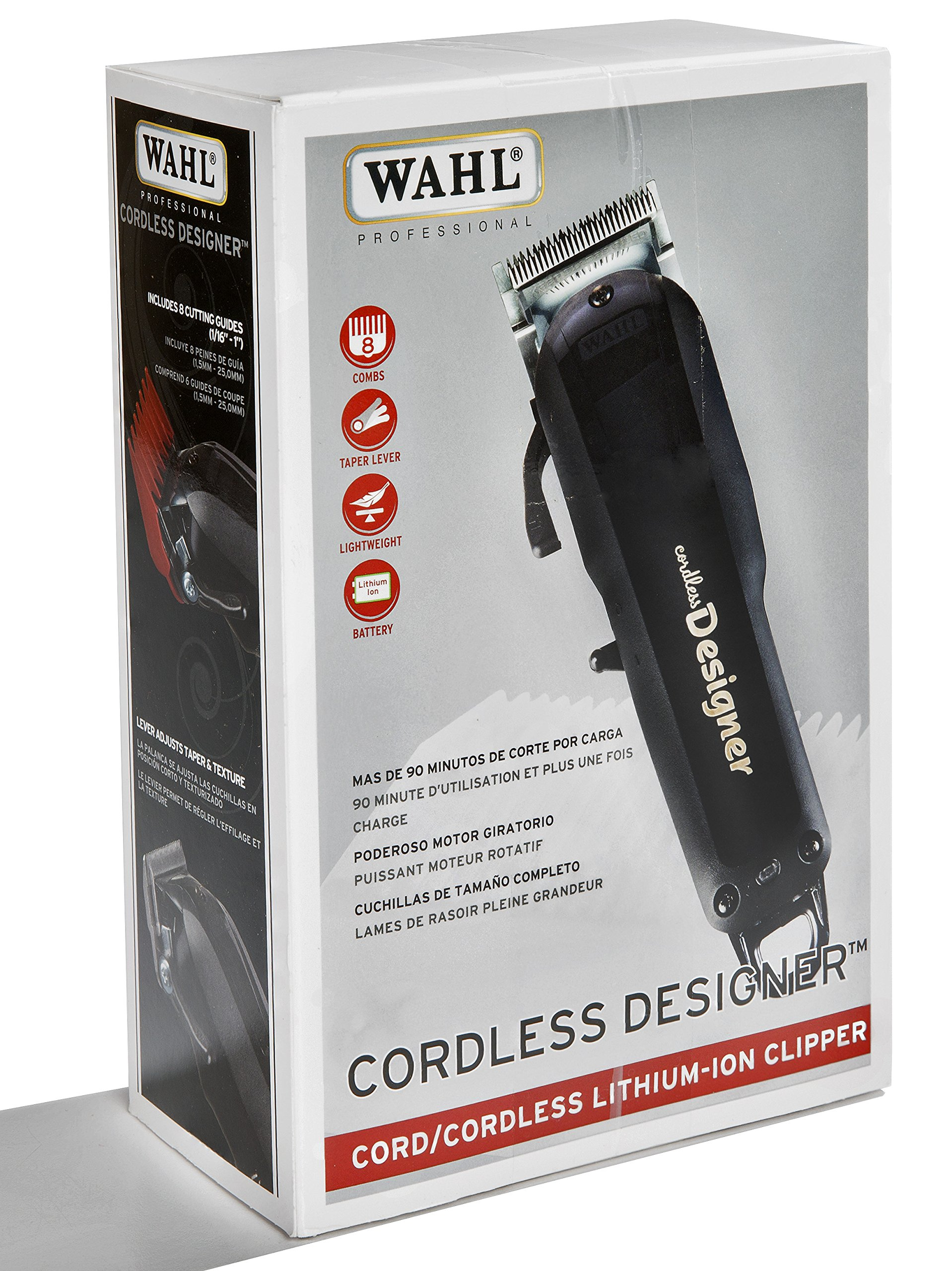 Wahl Professional Cordless Designer Clipper #8591 – 90 Minute Run Time – Accessories Included by Wahl Professional (Image #2)