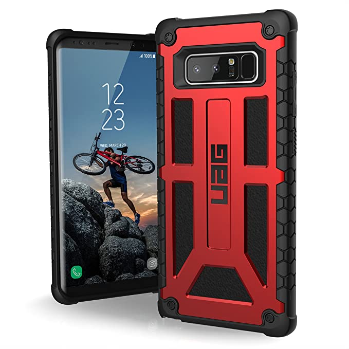 reputable site 6d681 11a7e UAG Samsung Note 8 Monarch Feather-Light Rugged [CRIMSON] Military Drop  Tested Phone Case