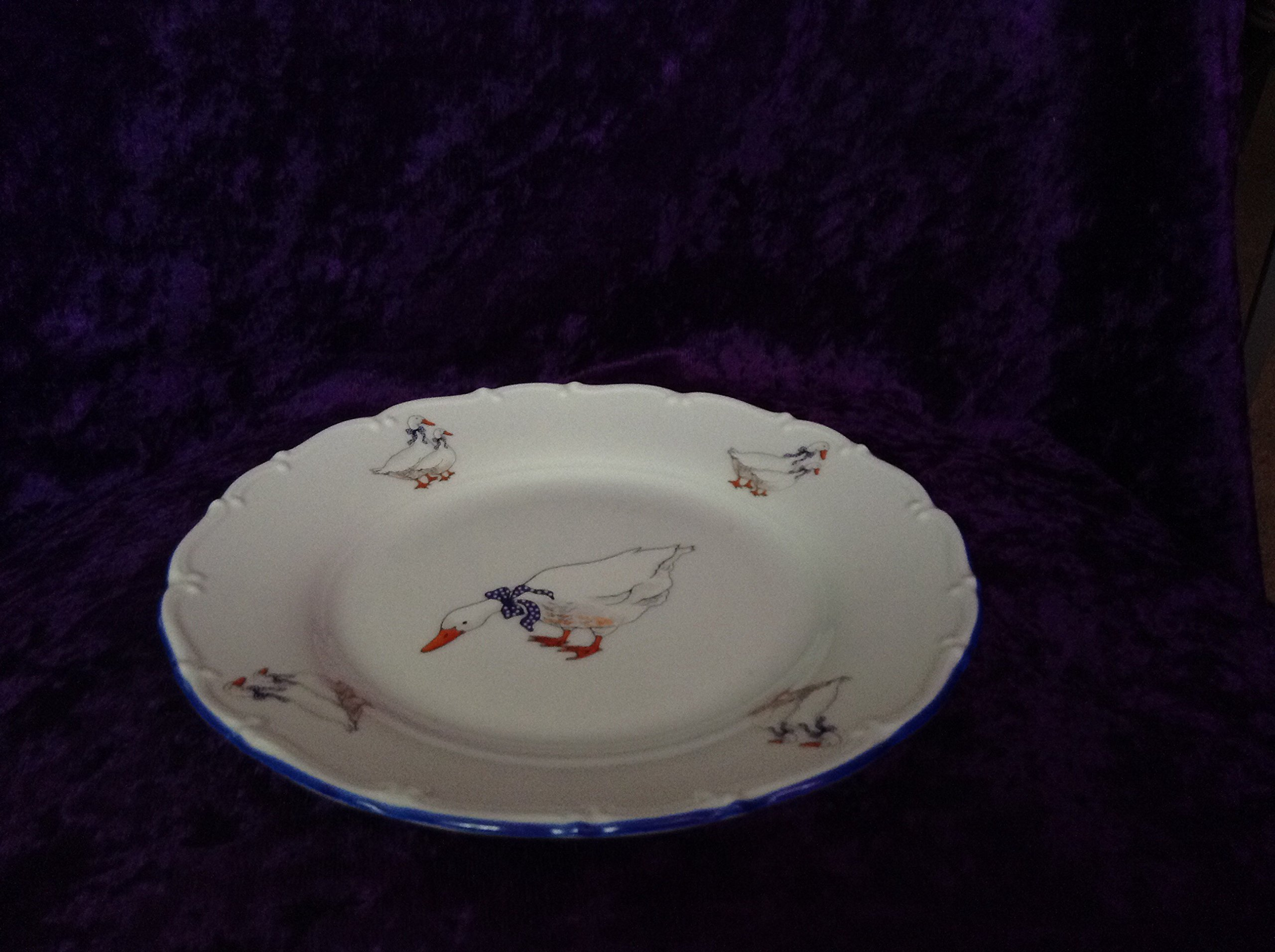 Plate set for 6 pers., Czech porcelain, Geese by Geese