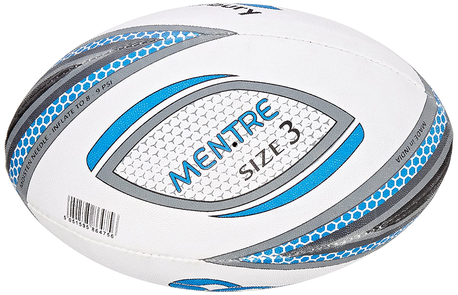 New Canterbury Mentre Junior Rugby Training Ball Size 3 White//Red