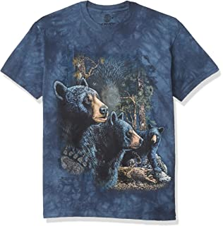 Bear Forest Mountain Kids Cotton T-Shirt Basic Soft Short Sleeve Tee Tops for Baby Boys Girls