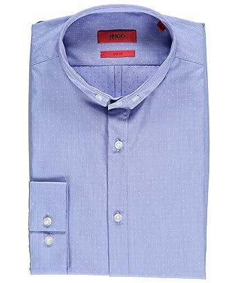 Hugo Boss - Camisa formal - Lunares - Cuello redondo - para hombre azul azul L: Amazon.es: Ropa y accesorios