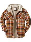 Legendary Whitetails Men's Camp Night Berber Lined Hooded Flannel Shirt Jacket