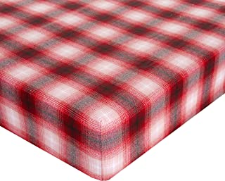 "product image for Glenna Jean Lumberjack Flannel Crib Sheet Fitted 28""x52""x8"" Nursery Standard"