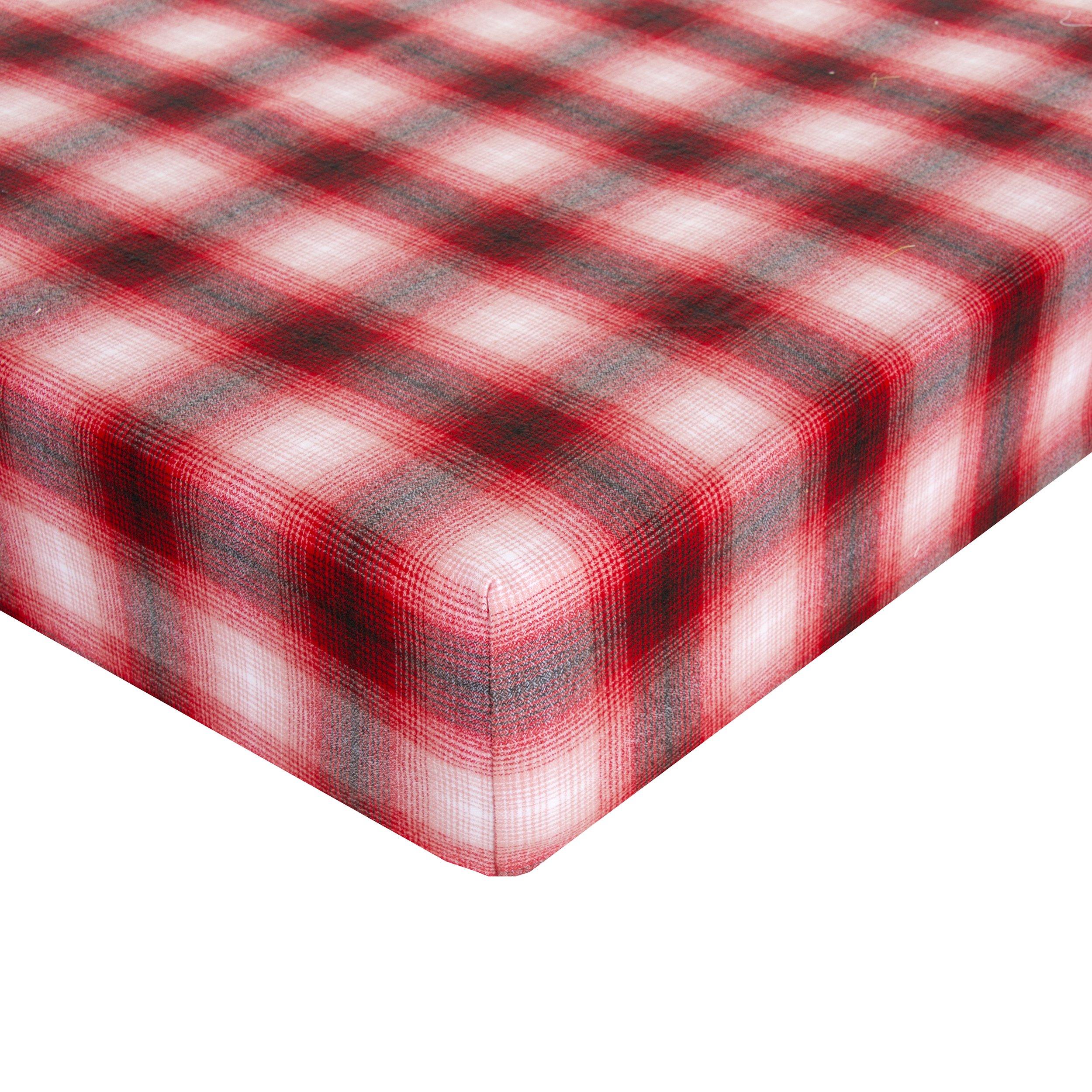 Glenna Jean Lumberjack Flannel Crib Sheet Fitted 28''x52''x8'' Nursery Standard