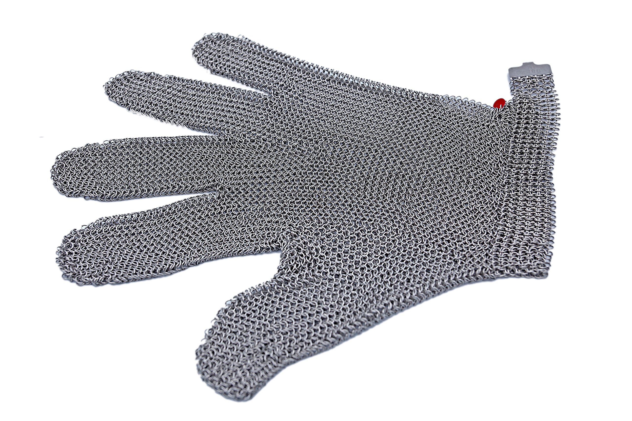 All Stainless Steel, No Fabric - Chainmail Mesh Butcher Glove - Sizes XXS to XL Available - ISO, FDA Compliant by 44Industry (Image #5)