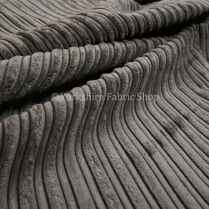 Jumbo Corduroy High Low Plain Texture Upholstery Quality New Green Soft Fabric
