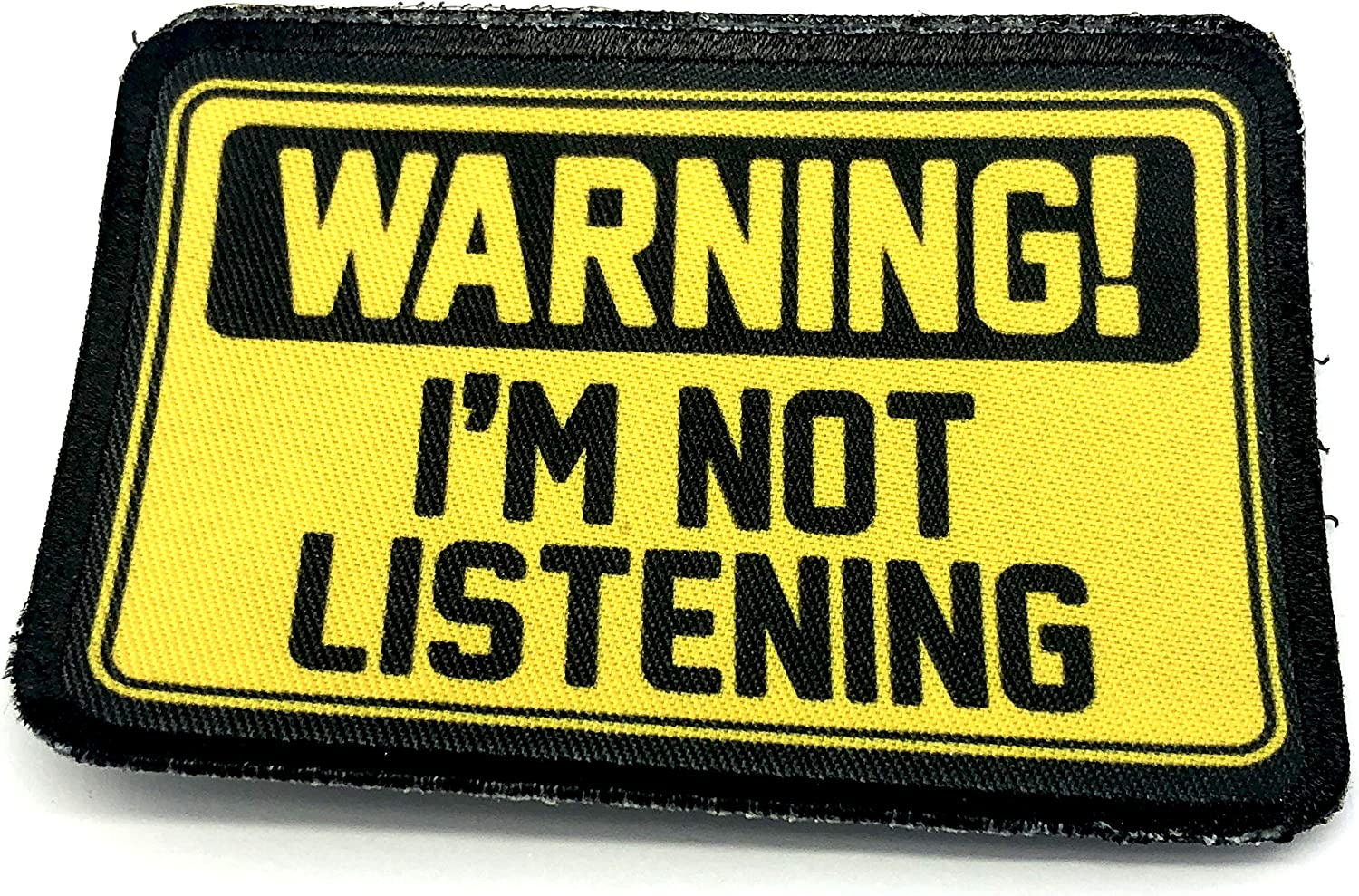 Warning Im Not Listening Cosplay Patch Moral Sublim/é