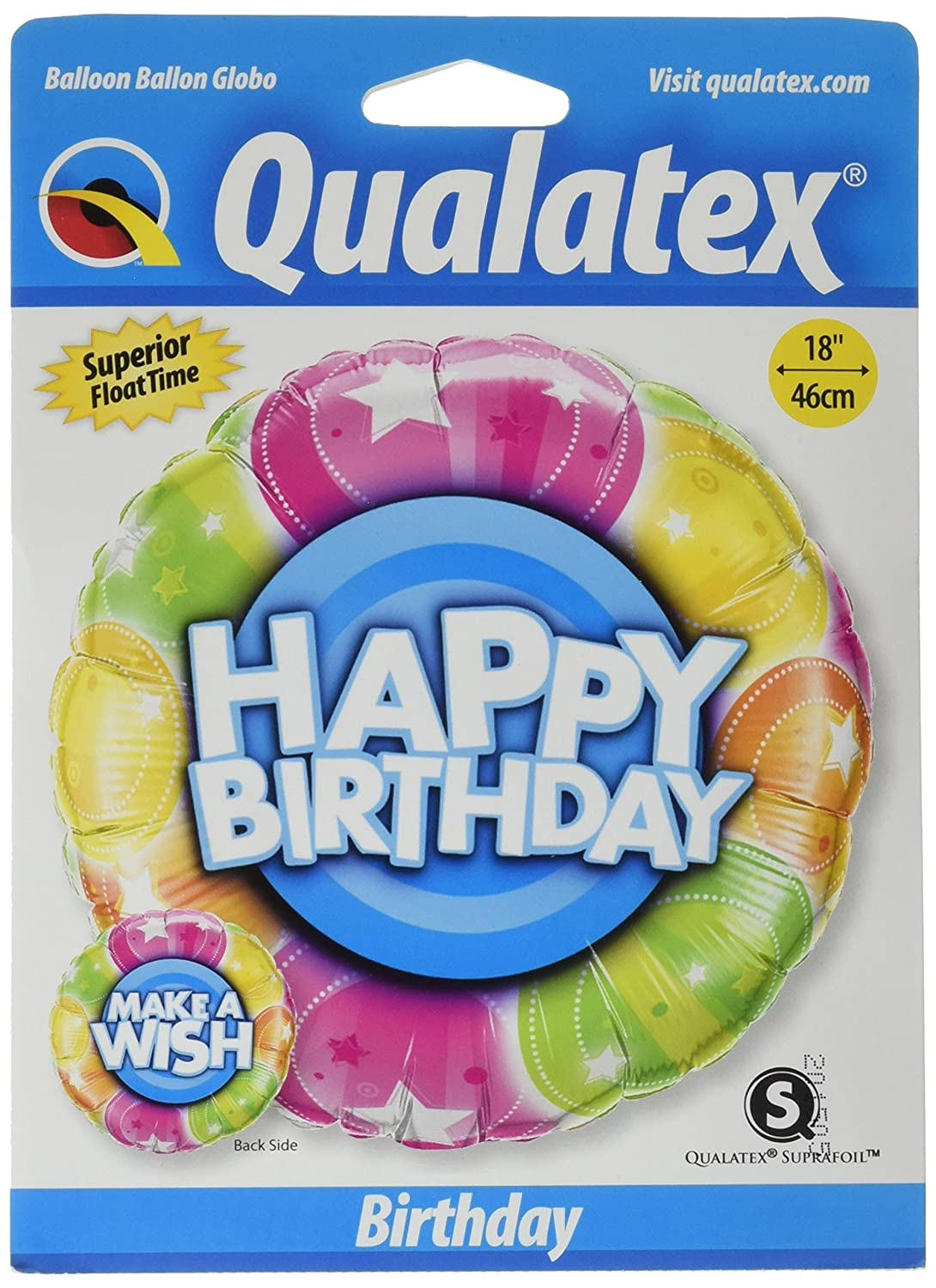 PIONEER BALLOON COMPANY Bday Make a Wish Foil Pack Multicolor 18