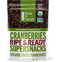 Made In Nature Organic Dried Cranberries, 5 oz (Pack of 6) - Non-GMO Vegan Dried Fruit Snack
