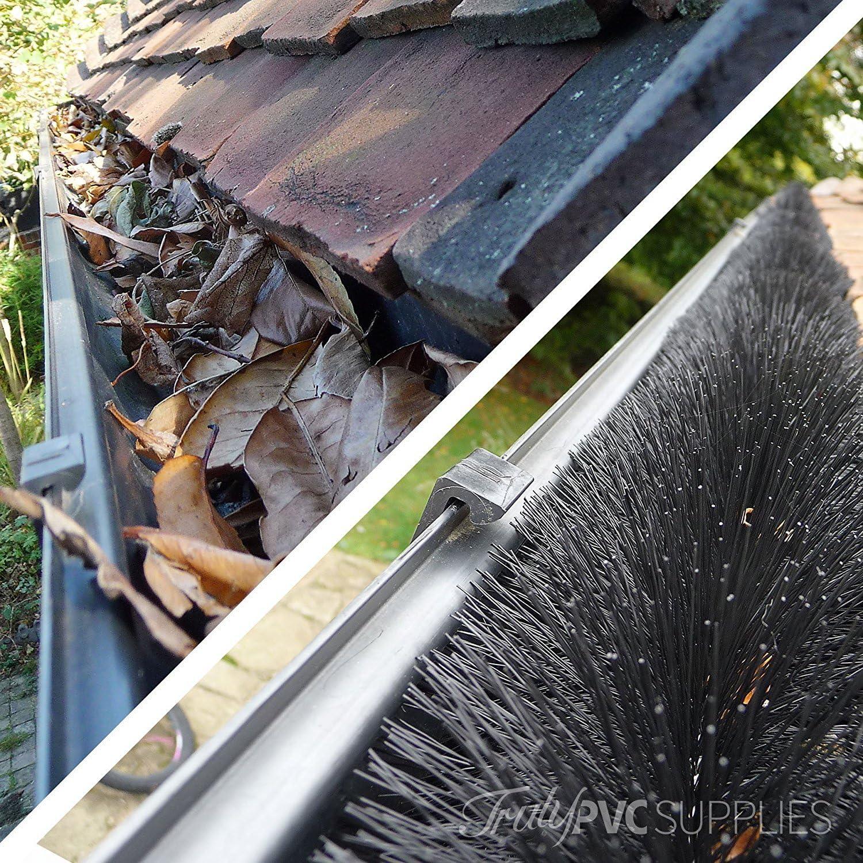 5/x 4/m /Feuille protection Bloque permanentes goutti/ères 20/metres 100/mm Noir H/érisson brosse pour goutti/ère/
