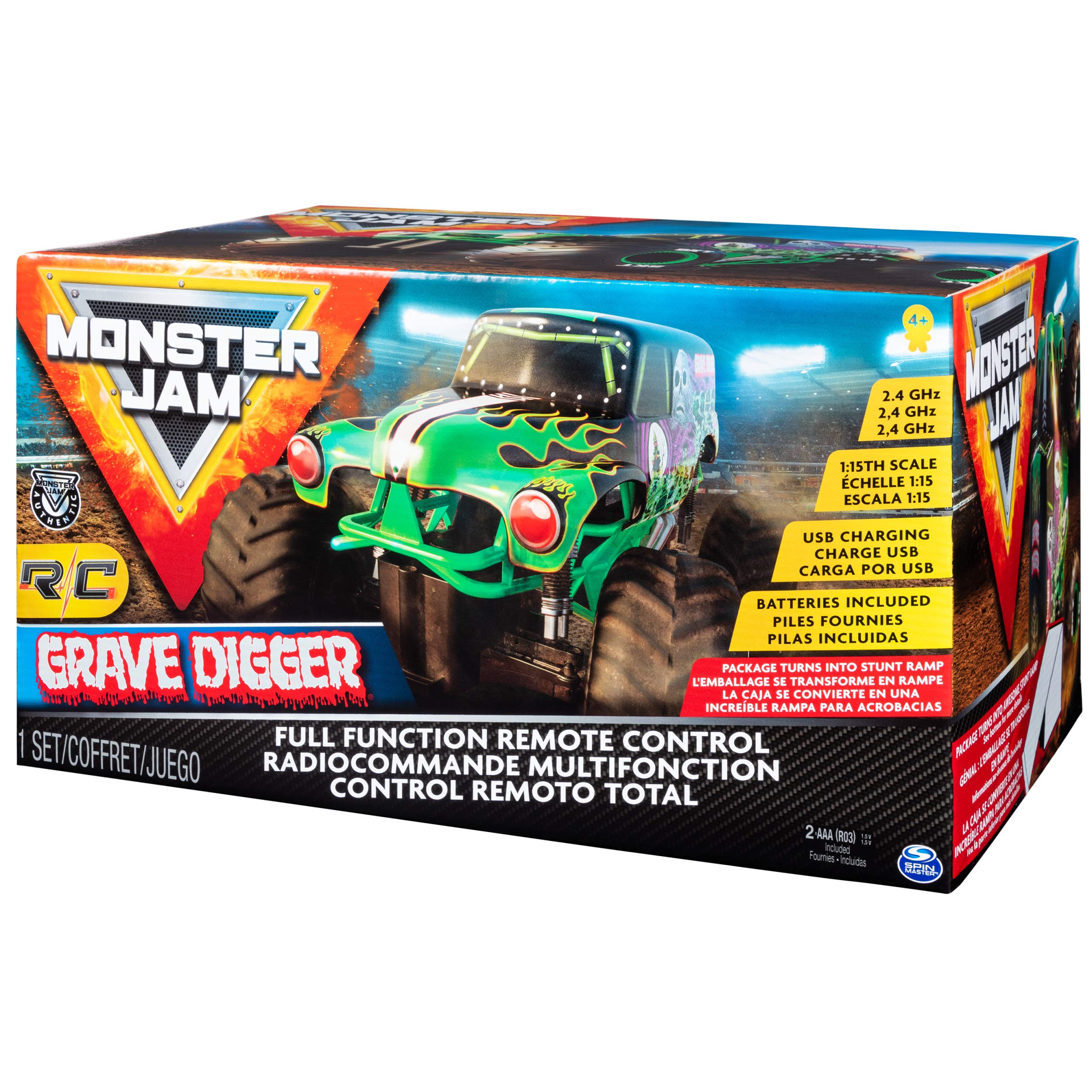 Monster Jam Official Grave Digger Remoter Control Monster Truck, 1: 15 Scale, 2.4Ghz by Monster Jam (Image #9)