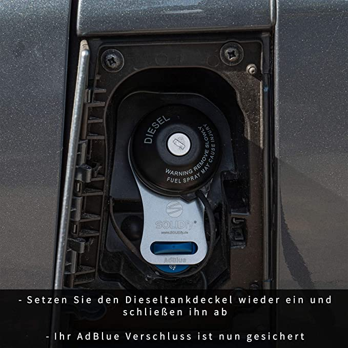Solidfy Adblue Verschluss Sicherung Aus Edelstahl Für Ducato Jumper Boxer Auto