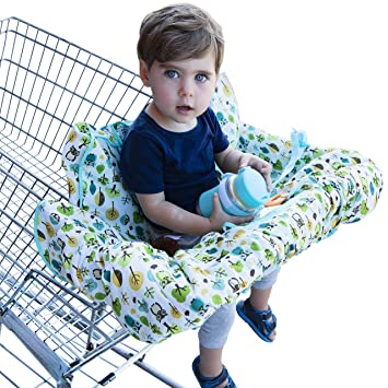 Shopping Cart Cover For Baby Or Toddler   2 In 1 High Chair Cover