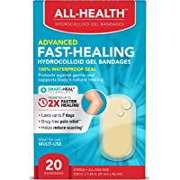 All Health All Health Advanced Fast Healing Hydrocolloid Gel Bandages, Regular 20 ct | 2X Faster Healing for First Aid…