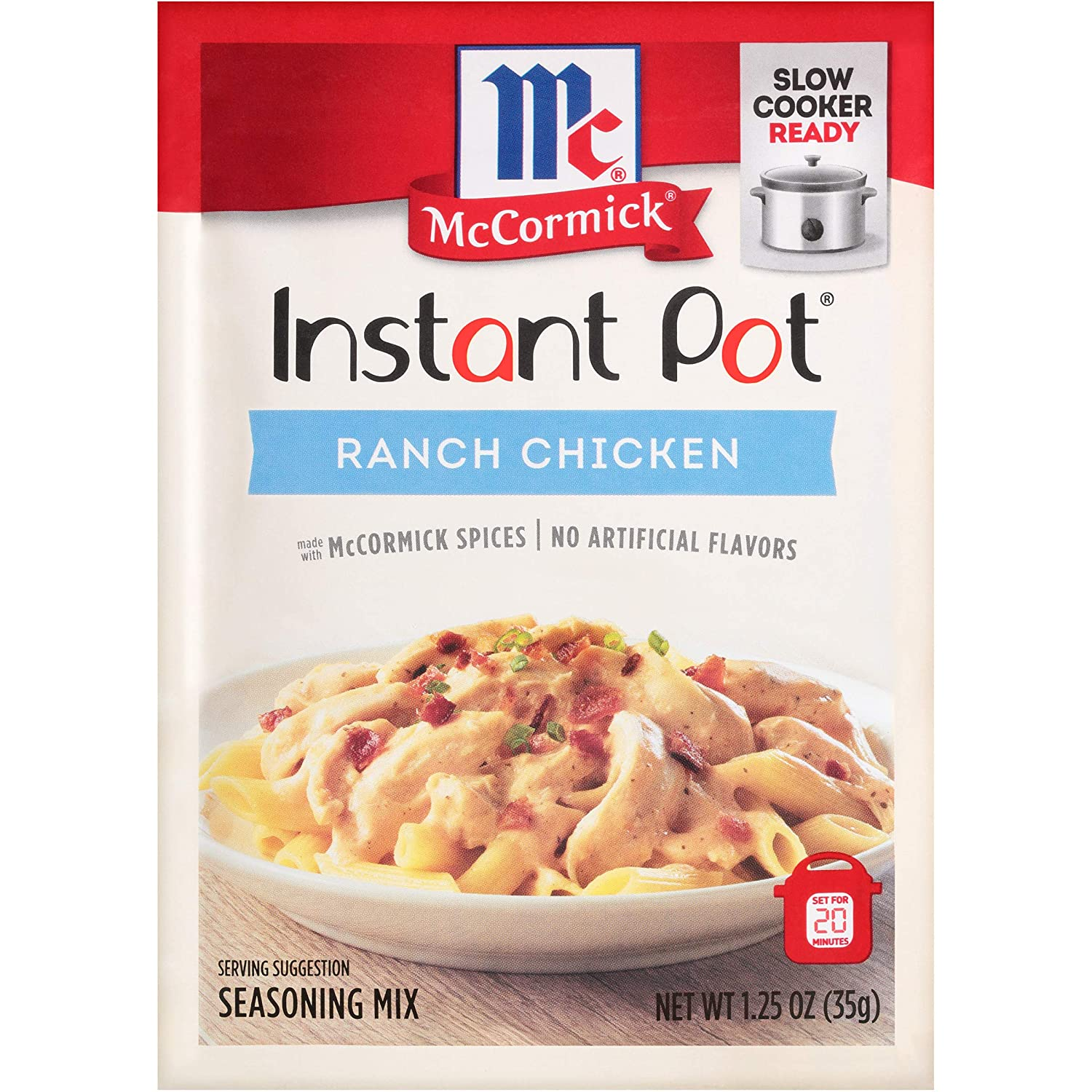 McCormick Instant Pot Ranch Chicken Seasoning Mix, 1.25 oz (Pack of 12)