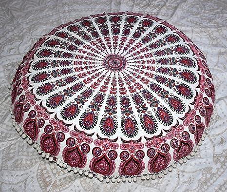 Jaipur - Cojín con relleno de plumas de pavo real, diseño de ...