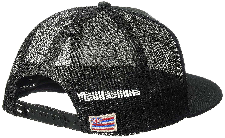 1SZ Quiksilver Mens PIER Slapper Trucker HAT Black