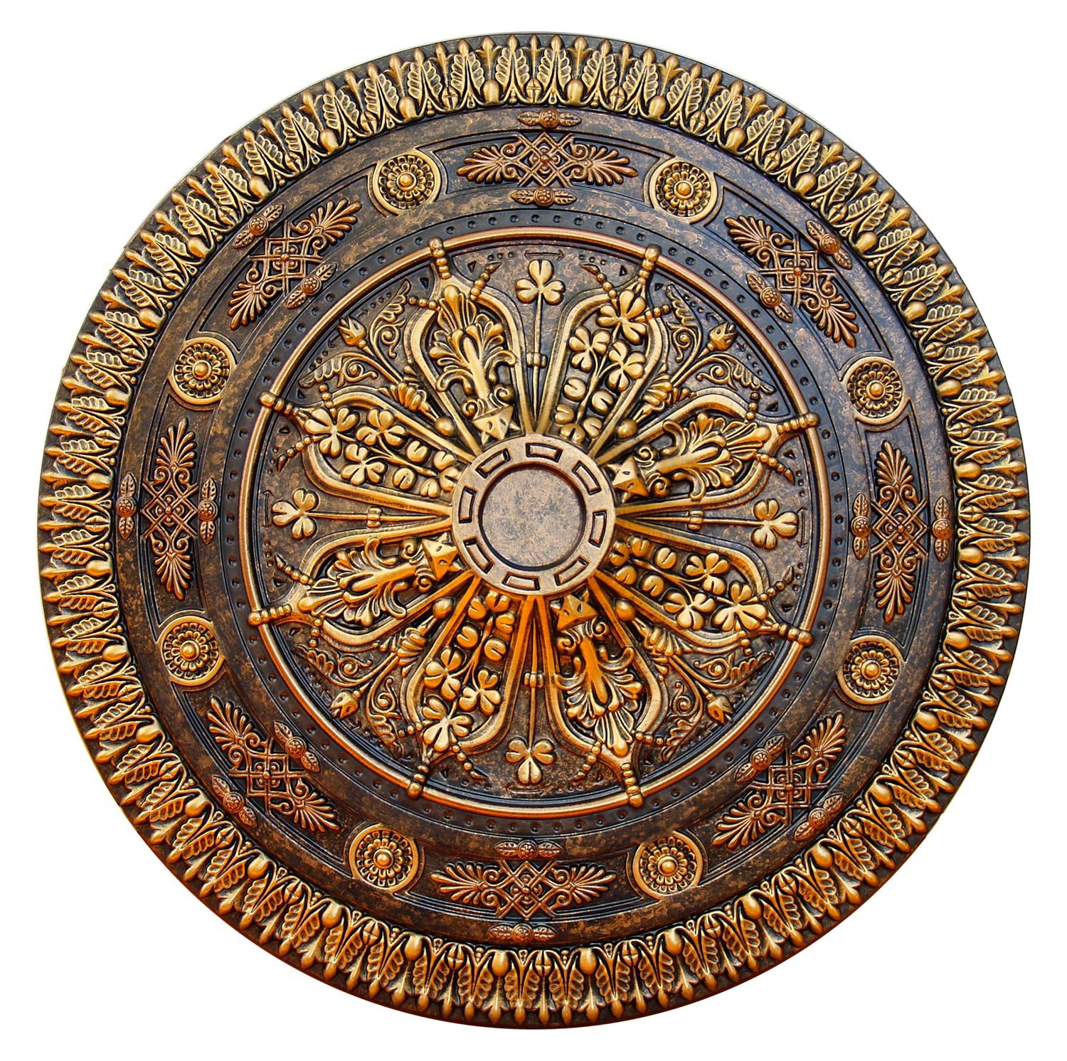 Fine Art Deco Arabic Caprice Hand Painted Ceiling Medallion 37-1/2 In. Finished in Bronze and Gold by Fine Art Deco by Fine Art Deco