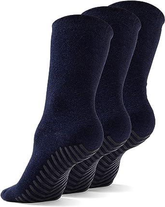 Gripjoy Grip Socks Non Slip Socks for Women Men - Non Skid Hospital Socks – 3 pk