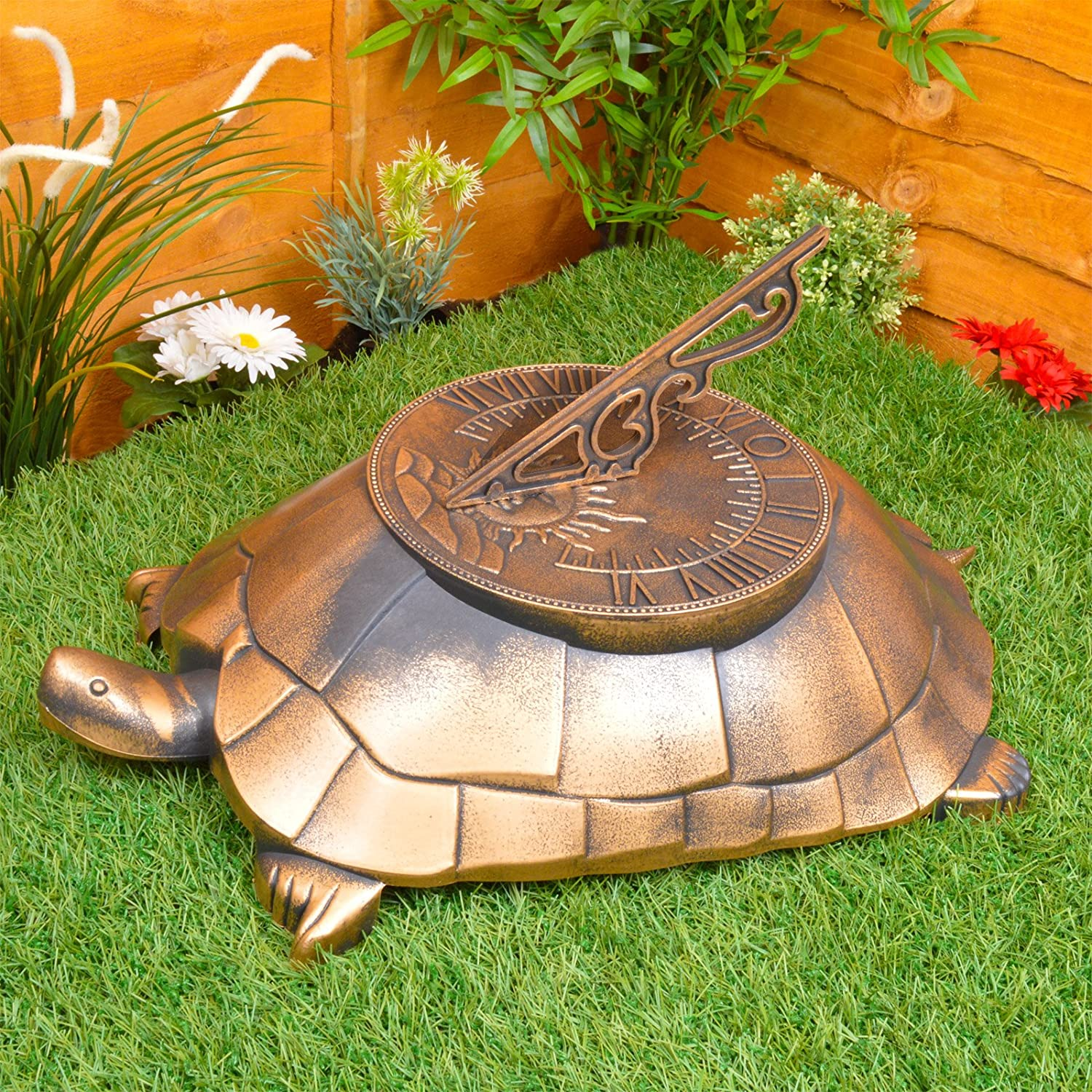 Large Tortoise Sundial Decoration   Lightweight Plastic And Weatherproof:  Amazon.co.uk: Garden U0026 Outdoors