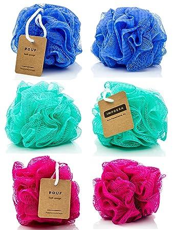 Beau Eco Friendly Mesh Bath And Shower Sponge, (6 Pack)   Loofah
