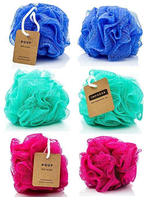 Buy Mesh Bath and Shower Sponge, Eco-friendly (6-pack)loofah