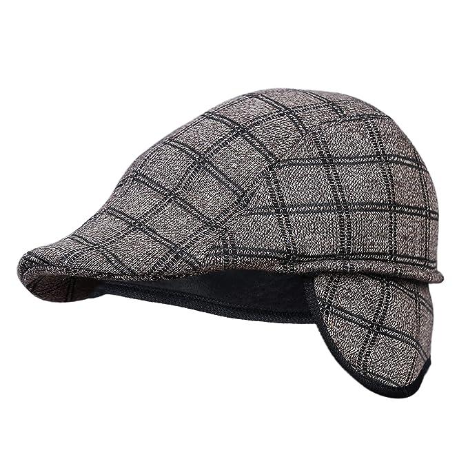 3ba098dd4 Zacharias Men's Golf Cap with Earmuff (Brown, Free Size): Amazon.in ...