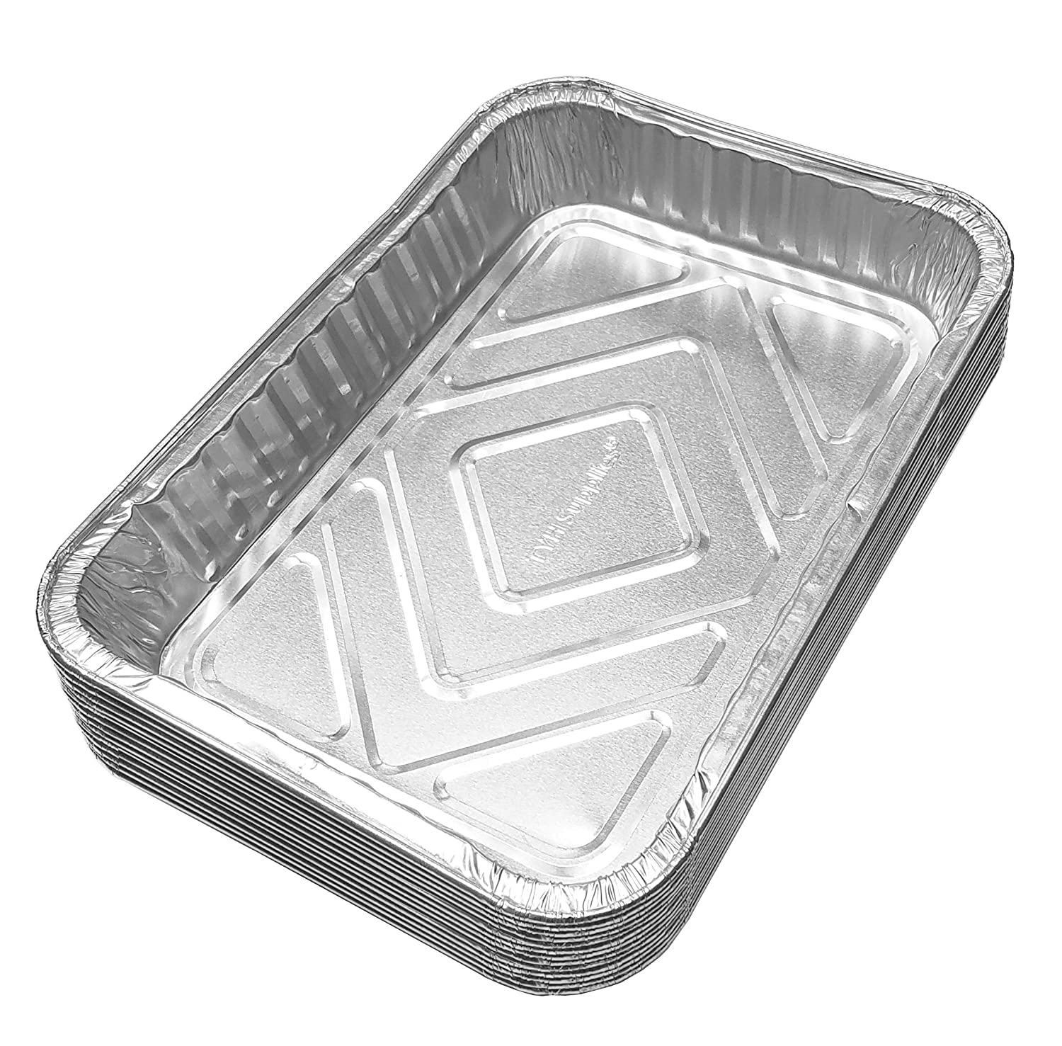 TYH Supplies Aluminum Foil BBQ Grease Drip Pans Compatible with Weber Grills Q Spirit Spirit II 20-Pack Genesis II LX 200 and 300 Series Gas Grill 7.5 x 5 Pulse